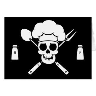Pirata del cocinero tarjeta de felicitación