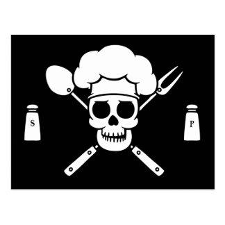 Pirata del cocinero tarjeta postal