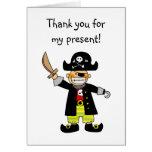 Pirata del cumpleaños, gracias por mi presente felicitacion