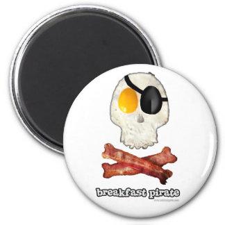 Pirata del desayuno… imán redondo 5 cm