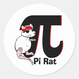 Pirata del día del pi etiqueta