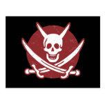 Pirata del diablo tarjeta postal