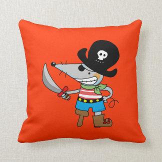 pirata del dibujo animado cojín decorativo