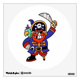Pirata del dibujo animado con la pierna y la