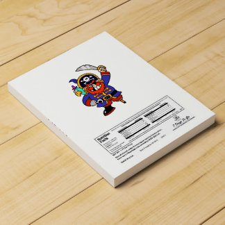 Pirata del dibujo animado con la pierna y la espad