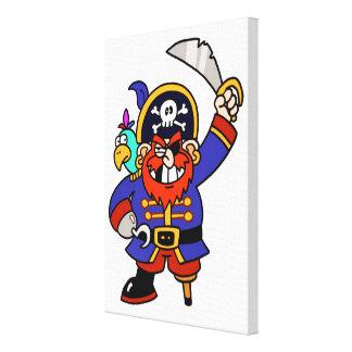 Pirata del dibujo animado con la pierna y la espad impresiones en lienzo estiradas
