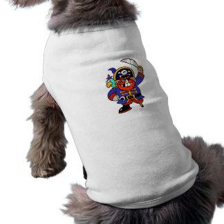Pirata del dibujo animado con la pierna y la espad camisas de perritos