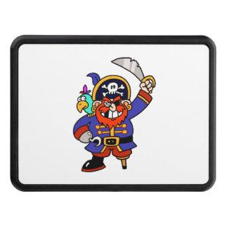 Pirata del dibujo animado con la pierna y la espad tapas de tráiler
