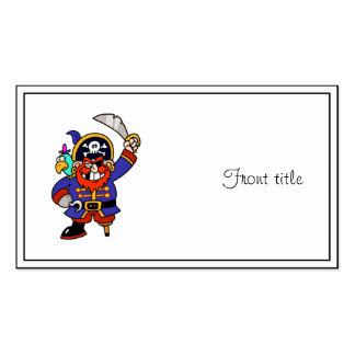 Pirata del dibujo animado con la pierna y la espad tarjetas de negocios