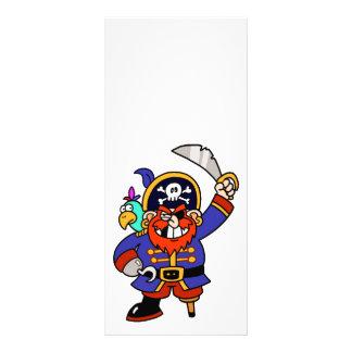 Pirata del dibujo animado con la pierna y la espad lona