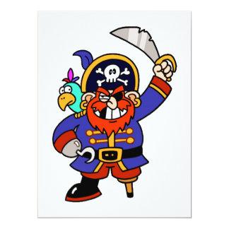 Pirata del dibujo animado con la pierna y la anuncios personalizados