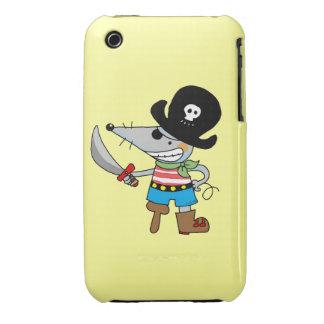 pirata del dibujo animado iPhone 3 Case-Mate protector