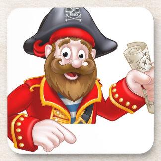 Pirata del dibujo animado posavaso