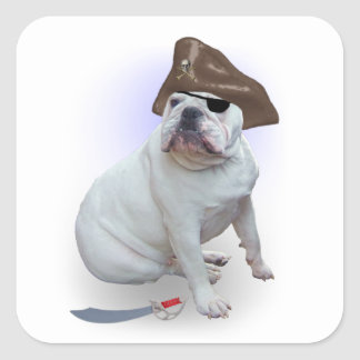 Pirata del dogo pegatina cuadrada