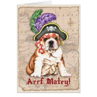 Pirata del dogo tarjeta de felicitación