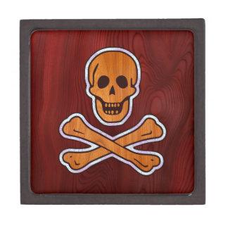 Pirata del embutido de la teca cajas de joyas de calidad