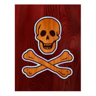 Pirata del embutido de la teca postales