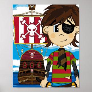 Pirata del Eyepatch e impresión lindos del poster