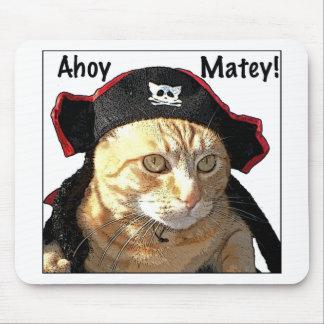 Pirata del gatito alfombrillas de ratón