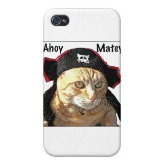 Pirata del gatito iPhone 4 protector
