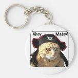Pirata del gatito llavero personalizado