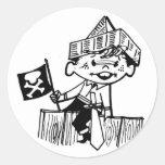 Pirata del Kiddie Pegatina