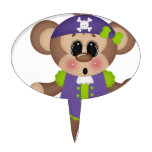 Pirata del mono decoraciones para tartas