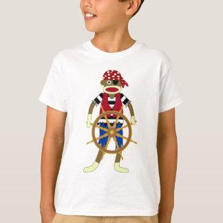 Pirata del mono del calcetín camisas