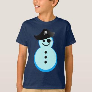 pirata del muñeco de nieve playera