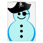 pirata del muñeco de nieve tarjetas