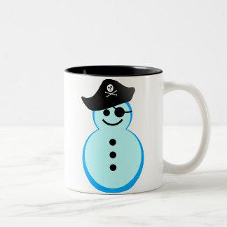 pirata del muñeco de nieve taza