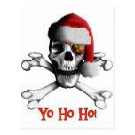 Pirata del navidad tarjeta postal