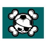 Pirata del niño del fútbol postales
