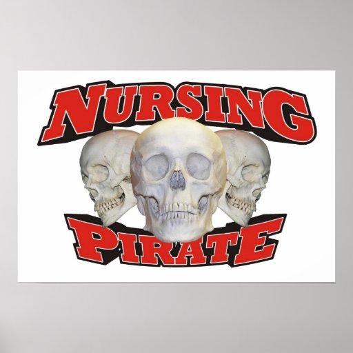 Pirata del oficio de enfermera póster