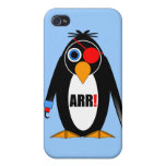 pirata del pingüino iPhone 4 cárcasas