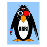 pirata del pingüino postales