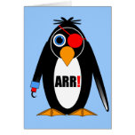 pirata del pingüino tarjeta