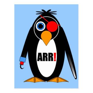 pirata del pingüino tarjeta postal