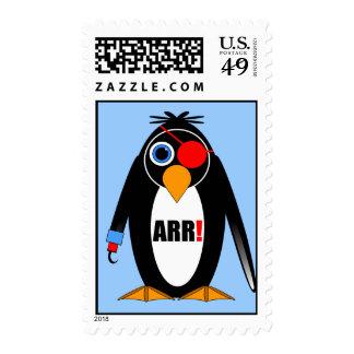 pirata del pingüino timbres postales