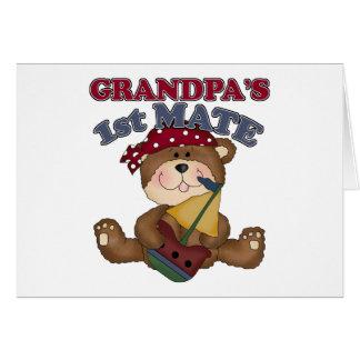 Pirata del primer compañero del abuelo tarjeta de felicitación