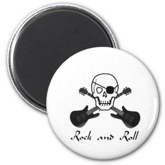 Pirata del rock-and-roll imán redondo 5 cm