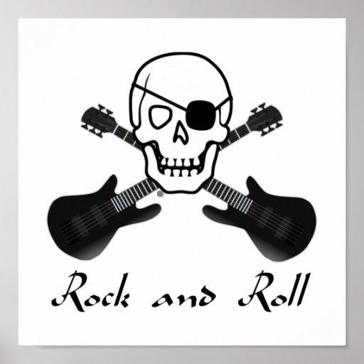 Pirata del rock-and-roll impresiones