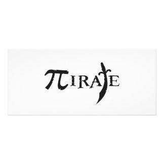 Pirata del símbolo del pi diseños de tarjetas publicitarias