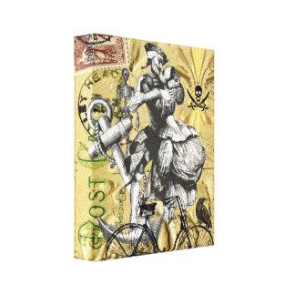 Pirata del steampunk del vintage impresión en lienzo