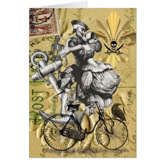 Pirata del steampunk del vintage tarjeta pequeña