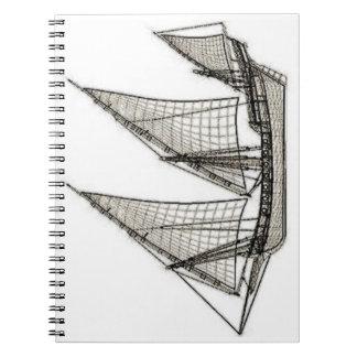 pirata del velero spiral notebooks