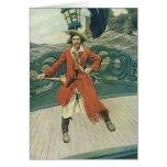 Pirata del vintage; Capitán Keitt de Howard Pyle Tarjetón