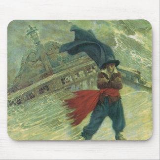 Pirata del vintage, el holandés errante de Howard Alfombrillas De Raton