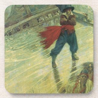 Pirata del vintage, el holandés errante de Howard Posavasos De Bebidas