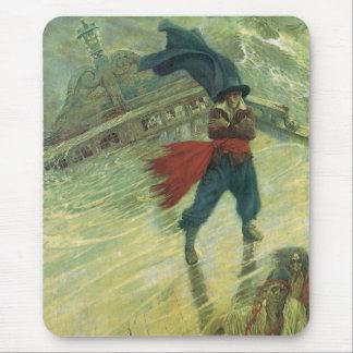 Pirata del vintage, el holandés errante de Howard Tapete De Raton